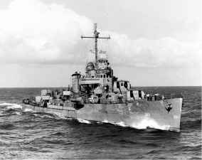 USS Moffet Bow at Sea.jpg